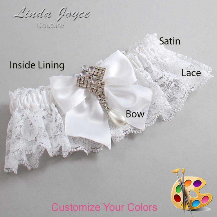 Couture Garters / Custom Wedding Garter / Customizable Wedding Garters / Personalized Wedding Garters / Madeline #10-B01-M33 / Wedding Garters / Bridal Garter / Prom Garter / Linda Joyce Couture