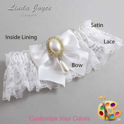 Couture Garters / Custom Wedding Garter / Customizable Wedding Garters / Personalized Wedding Garters / Michaela #10-B01-M34 / Wedding Garters / Bridal Garter / Prom Garter / Linda Joyce Couture