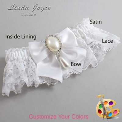 Couture Garters / Custom Wedding Garter / Customizable Wedding Garters / Personalized Wedding Garters / Michaela #10-B01-M35 / Wedding Garters / Bridal Garter / Prom Garter / Linda Joyce Couture