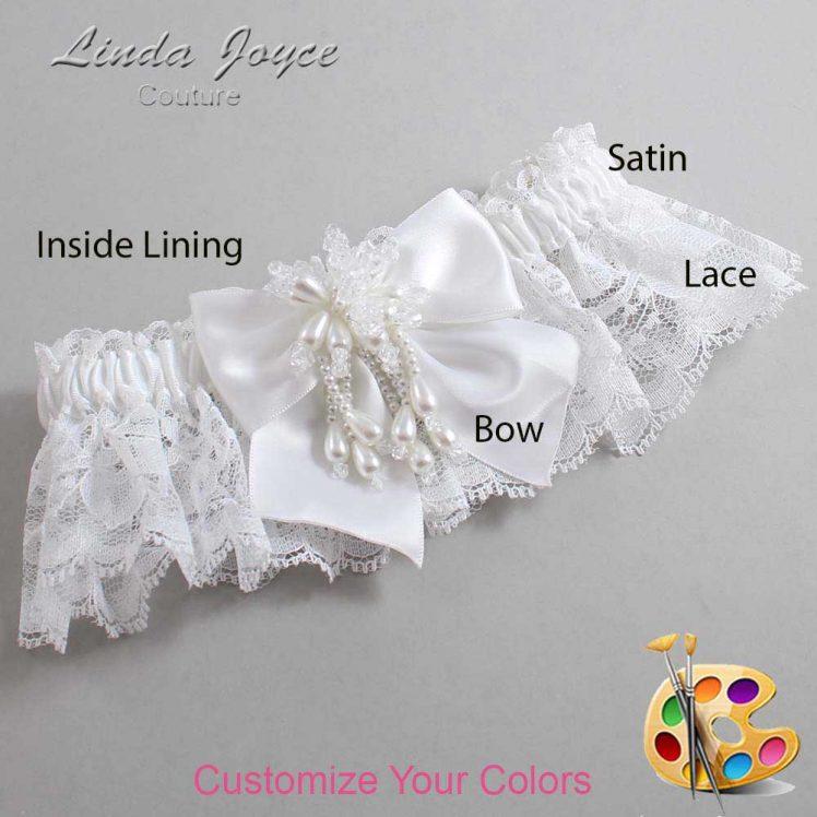 Couture Garters / Custom Wedding Garter / Customizable Wedding Garters / Personalized Wedding Garters / Daphne #10-B01-M38 / Wedding Garters / Bridal Garter / Prom Garter / Linda Joyce Couture