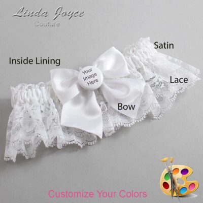 Customizable Wedding Garter / US-Military Custom Button #10-B01-M44