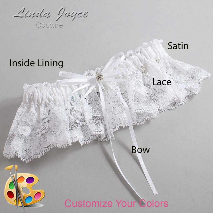 Couture Garters / Custom Wedding Garter / Customizable Wedding Garters / Personalized Wedding Garters / Loise #10-B10-M03 / Wedding Garters / Bridal Garter / Prom Garter / Linda Joyce Couture