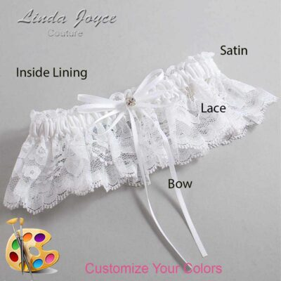 Couture Garters / Custom Wedding Garter / Customizable Wedding Garters / Personalized Wedding Garters / Loise #10-B10-M04 / Wedding Garters / Bridal Garter / Prom Garter / Linda Joyce Couture