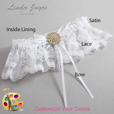 Couture Garters / Custom Wedding Garter / Customizable Wedding Garters / Personalized Wedding Garters / Charlene #10-B10-M12 / Wedding Garters / Bridal Garter / Prom Garter / Linda Joyce Couture