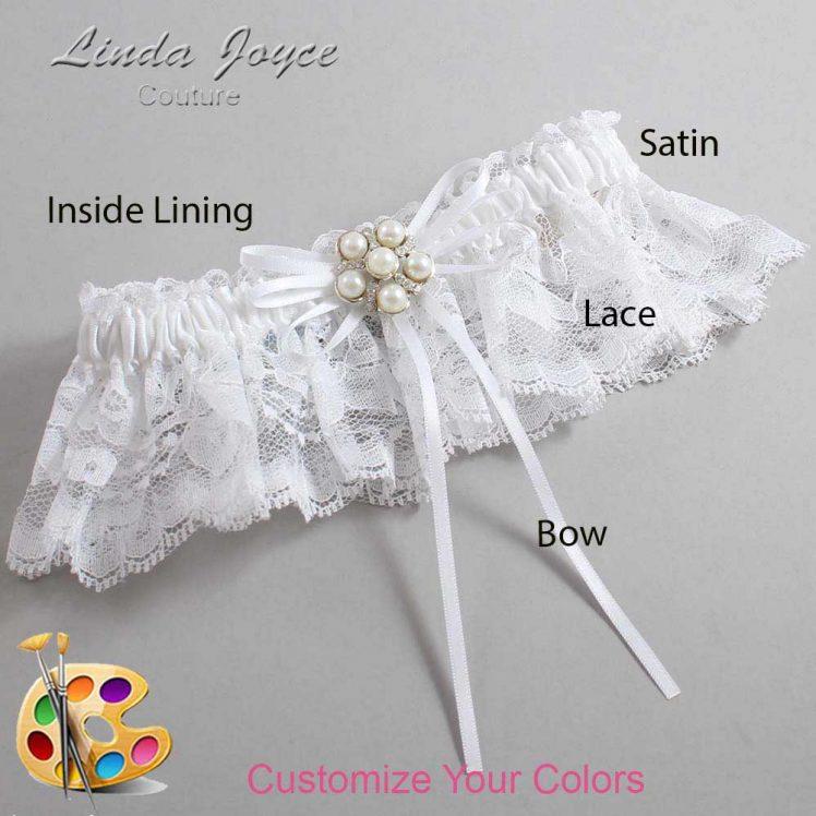 Couture Garters / Custom Wedding Garter / Customizable Wedding Garters / Personalized Wedding Garters / Darci #10-B10-M13 / Wedding Garters / Bridal Garter / Prom Garter / Linda Joyce Couture