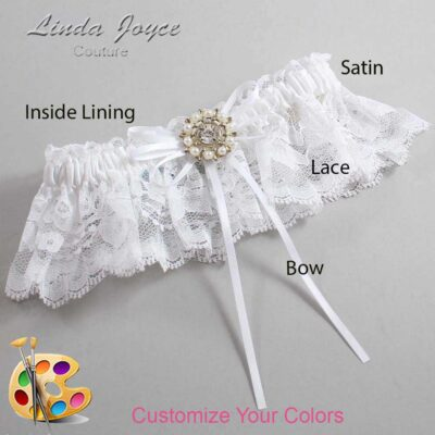 Couture Garters / Custom Wedding Garter / Customizable Wedding Garters / Personalized Wedding Garters / Dawn #10-B10-M14 / Wedding Garters / Bridal Garter / Prom Garter / Linda Joyce Couture