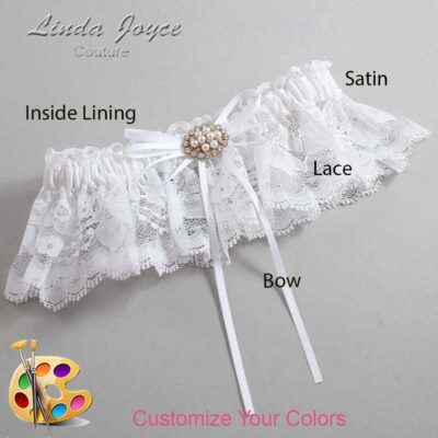Couture Garters / Custom Wedding Garter / Customizable Wedding Garters / Personalized Wedding Garters / Belinda #10-B10-M16 / Wedding Garters / Bridal Garter / Prom Garter / Linda Joyce Couture