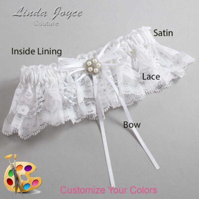 Couture Garters / Custom Wedding Garter / Customizable Wedding Garters / Personalized Wedding Garters / Gail #10-B10-M20 / Wedding Garters / Bridal Garter / Prom Garter / Linda Joyce Couture