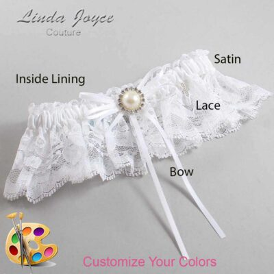 Couture Garters / Custom Wedding Garter / Customizable Wedding Garters / Personalized Wedding Garters / Faith #10-B10-M22 / Wedding Garters / Bridal Garter / Prom Garter / Linda Joyce Couture