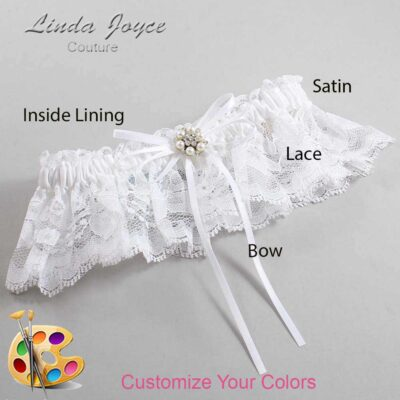 Couture Garters / Custom Wedding Garter / Customizable Wedding Garters / Personalized Wedding Garters / Ellen #10-B10-M23 / Wedding Garters / Bridal Garter / Prom Garter / Linda Joyce Couture