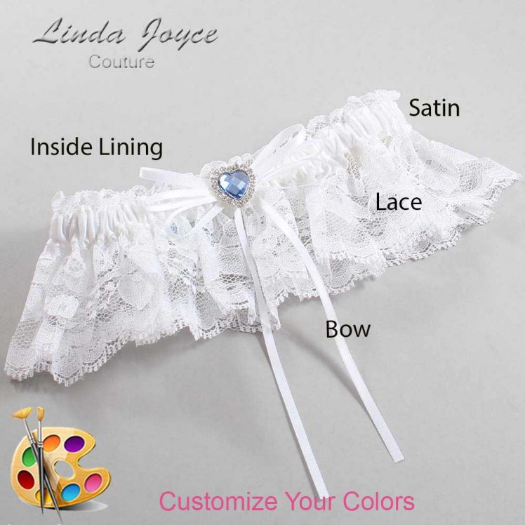 Couture Garters / Custom Wedding Garter / Customizable Wedding Garters / Personalized Wedding Garters / Jill #10-B10-M25 / Wedding Garters / Bridal Garter / Prom Garter / Linda Joyce Couture