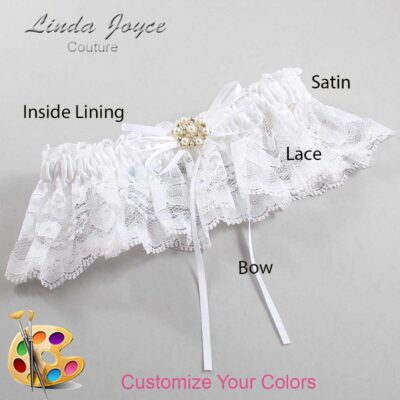 Couture Garters / Custom Wedding Garter / Customizable Wedding Garters / Personalized Wedding Garters / Helen #10-B10-M27 / Wedding Garters / Bridal Garter / Prom Garter / Linda Joyce Couture