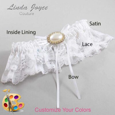 Couture Garters / Custom Wedding Garter / Customizable Wedding Garters / Personalized Wedding Garters / Jacque #10-B10-M28 / Wedding Garters / Bridal Garter / Prom Garter / Linda Joyce Couture