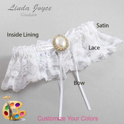 Couture Garters / Custom Wedding Garter / Customizable Wedding Garters / Personalized Wedding Garters / Evonne #10-B10-M29 / Wedding Garters / Bridal Garter / Prom Garter / Linda Joyce Couture