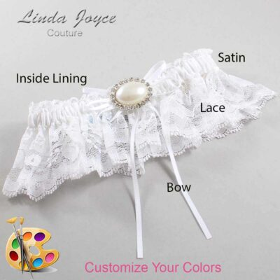 Couture Garters / Custom Wedding Garter / Customizable Wedding Garters / Personalized Wedding Garters / Jacque #10-B10-M30 / Wedding Garters / Bridal Garter / Prom Garter / Linda Joyce Couture