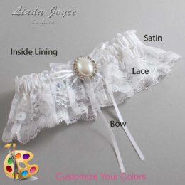 Customizable Wedding Garter / Evonne #10-B10-M31-Silver