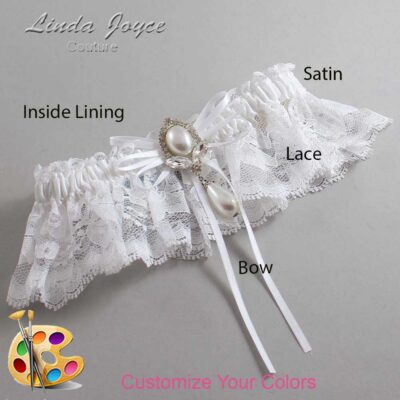 Couture Garters / Custom Wedding Garter / Customizable Wedding Garters / Personalized Wedding Garters / JoAnn #10-B10-M32 / Wedding Garters / Bridal Garter / Prom Garter / Linda Joyce Couture