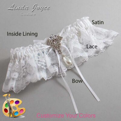 Couture Garters / Custom Wedding Garter / Customizable Wedding Garters / Personalized Wedding Garters / Kelly #10-B10-M33 / Wedding Garters / Bridal Garter / Prom Garter / Linda Joyce Couture