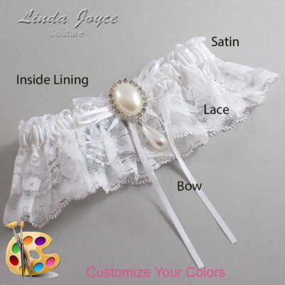 Couture Garters / Custom Wedding Garter / Customizable Wedding Garters / Personalized Wedding Garters / Andrea #10-B10-M35 / Wedding Garters / Bridal Garter / Prom Garter / Linda Joyce Couture