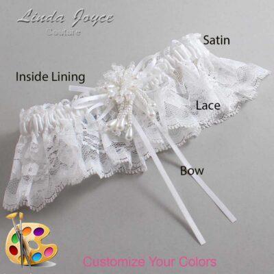 Couture Garters / Custom Wedding Garter / Customizable Wedding Garters / Personalized Wedding Garters / Layla #10-B10-M38 / Wedding Garters / Bridal Garter / Prom Garter / Linda Joyce Couture