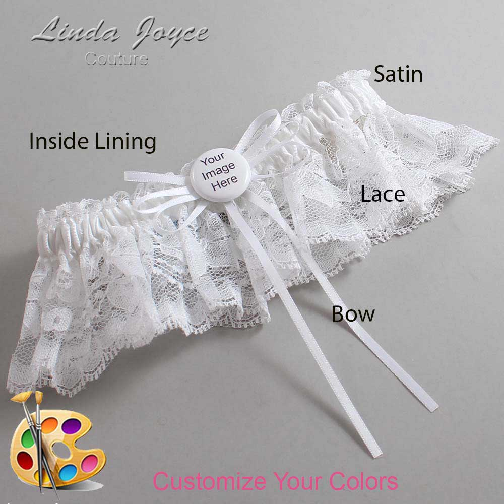 Customizable Wedding Garter / US-Military Custom Button #10-B10-M44