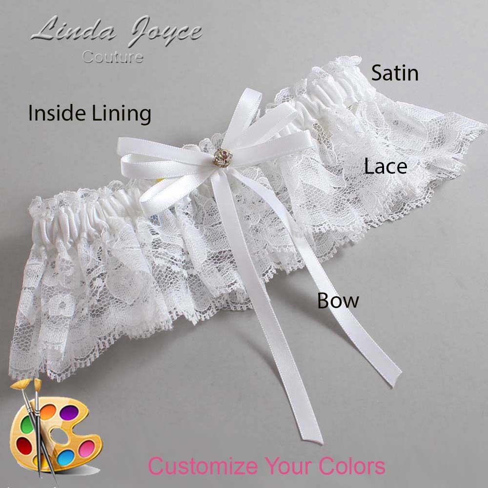 Customizable Wedding Garter / Audry #10-B11-M03-Gold