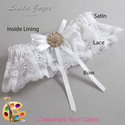 Couture Garters / Custom Wedding Garter / Customizable Wedding Garters / Personalized Wedding Garters / Bambi #10-B11-M12 / Wedding Garters / Bridal Garter / Prom Garter / Linda Joyce Couture
