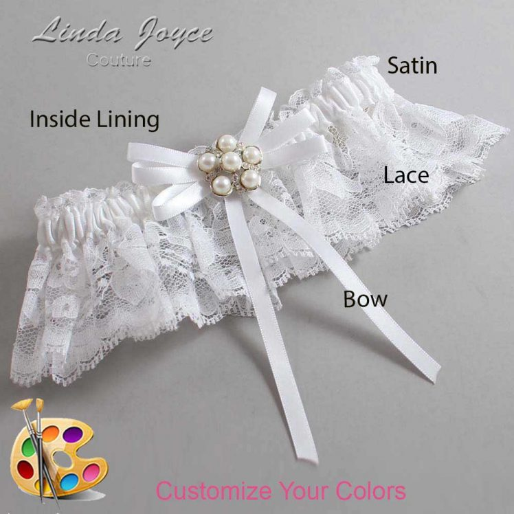 Couture Garters / Custom Wedding Garter / Customizable Wedding Garters / Personalized Wedding Garters / Bailey #10-B11-M13 / Wedding Garters / Bridal Garter / Prom Garter / Linda Joyce Couture