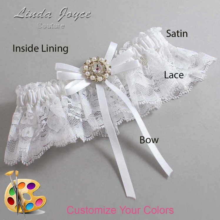 Couture Garters / Custom Wedding Garter / Customizable Wedding Garters / Personalized Wedding Garters / Caitlin #10-B11-M14 / Wedding Garters / Bridal Garter / Prom Garter / Linda Joyce Couture