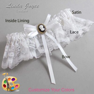 Couture Garters / Custom Wedding Garter / Customizable Wedding Garters / Personalized Wedding Garters / Carli #10-B11-M15 / Wedding Garters / Bridal Garter / Prom Garter / Linda Joyce Couture