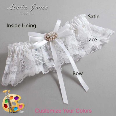 Customizable Wedding Garter / Cheryl #10-B11-M16-Gold