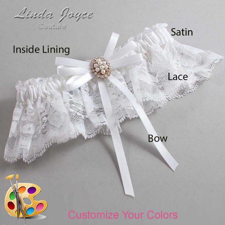 Couture Garters / Custom Wedding Garter / Customizable Wedding Garters / Personalized Wedding Garters / Chrissy #10-B11-M17 / Wedding Garters / Bridal Garter / Prom Garter / Linda Joyce Couture