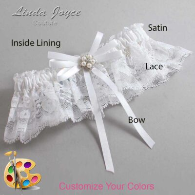Couture Garters / Custom Wedding Garter / Customizable Wedding Garters / Personalized Wedding Garters / Danielle #10-B11-M20 / Wedding Garters / Bridal Garter / Prom Garter / Linda Joyce Couture
