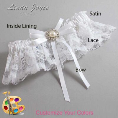 Couture Garters / Custom Wedding Garter / Customizable Wedding Garters / Personalized Wedding Garters / Dolores #10-B11-M24 / Wedding Garters / Bridal Garter / Prom Garter / Linda Joyce Couture