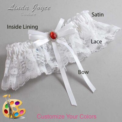 Couture Garters / Custom Wedding Garter / Customizable Wedding Garters / Personalized Wedding Garters / Elissa #10-B11-M26 / Wedding Garters / Bridal Garter / Prom Garter / Linda Joyce Couture