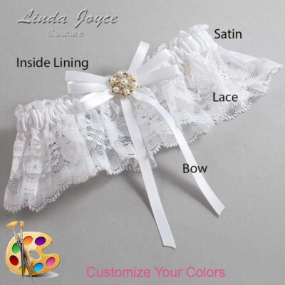 Couture Garters / Custom Wedding Garter / Customizable Wedding Garters / Personalized Wedding Garters / Ellie #10-B11-M27 / Wedding Garters / Bridal Garter / Prom Garter / Linda Joyce Couture