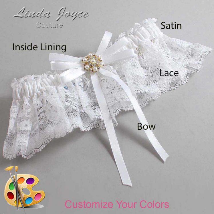 Couture Garters / Custom Wedding Garter / Customizable Wedding Garters / Personalized Wedding Garters / Ellie #10-B11-M27 / Wedding Garters / Bridal Garter / Prom Garter / Linda Joyce Couture
