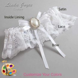 Customizable Wedding Garter / Felina #10-B11-M31-Silver