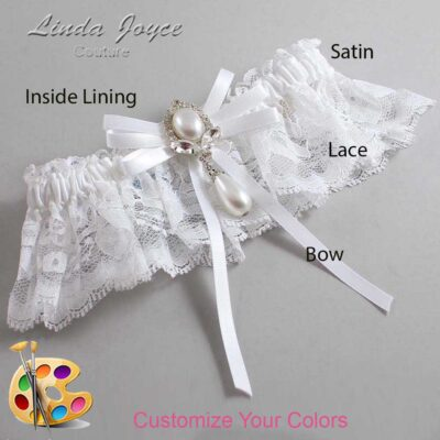 Couture Garters / Custom Wedding Garter / Customizable Wedding Garters / Personalized Wedding Garters / Felicia #10-B11-M32 / Wedding Garters / Bridal Garter / Prom Garter / Linda Joyce Couture