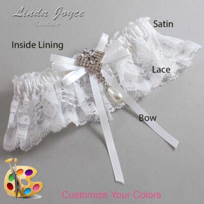 Couture Garters / Custom Wedding Garter / Customizable Wedding Garters / Personalized Wedding Garters / FiFi #10-B11-M33 / Wedding Garters / Bridal Garter / Prom Garter / Linda Joyce Couture
