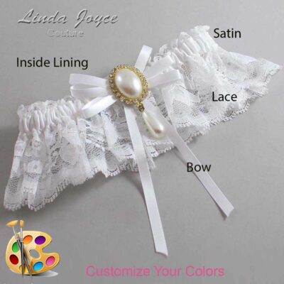 Couture Garters / Custom Wedding Garter / Customizable Wedding Garters / Personalized Wedding Garters / Florence #10-B11-M34 / Wedding Garters / Bridal Garter / Prom Garter / Linda Joyce Couture