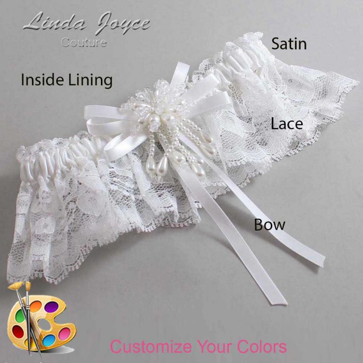 Couture Garters / Custom Wedding Garter / Customizable Wedding Garters / Personalized Wedding Garters / Gabrielle #10-B11-M38 / Wedding Garters / Bridal Garter / Prom Garter / Linda Joyce Couture