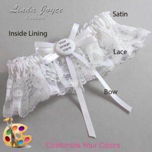 Couture Garters / Custom Wedding Garter / Customizable Wedding Garters / Personalized Wedding Garters / Custom Button #10-B11-M44 / Wedding Garters / Bridal Garter / Prom Garter / Linda Joyce Couture