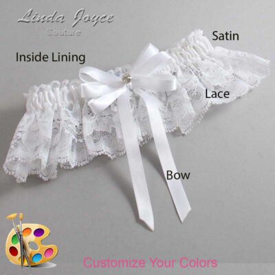 Couture Garters / Custom Wedding Garter / Customizable Wedding Garters / Personalized Wedding Garters / Venessa #10-B12-M04 / Wedding Garters / Bridal Garter / Prom Garter / Linda Joyce Couture