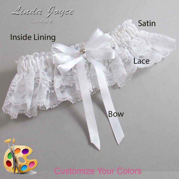 Couture Garters / Custom Wedding Garter / Customizable Wedding Garters / Personalized Wedding Garters / Venessa #10-B12-M04 / Wedding Garters / Bridal Garter / Prom Garter / Linda Joyce Couture