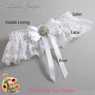 Couture Garters / Custom Wedding Garter / Customizable Wedding Garters / Personalized Wedding Garters / Ashton #10-B12-M11 / Wedding Garters / Bridal Garter / Prom Garter / Linda Joyce Couture