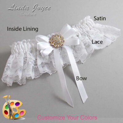 Couture Garters / Custom Wedding Garter / Customizable Wedding Garters / Personalized Wedding Garters / Brett #10-B12-M12 / Wedding Garters / Bridal Garter / Prom Garter / Linda Joyce Couture
