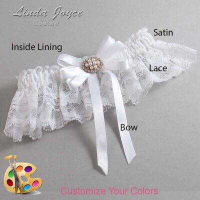 Couture Garters / Custom Wedding Garter / Customizable Wedding Garters / Personalized Wedding Garters / Tanya #10-B12-M16 / Wedding Garters / Bridal Garter / Prom Garter / Linda Joyce Couture