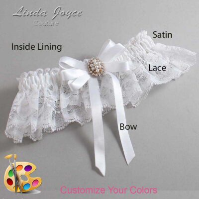 Couture Garters / Custom Wedding Garter / Customizable Wedding Garters / Personalized Wedding Garters / Whitney #10-B12-M17 / Wedding Garters / Bridal Garter / Prom Garter / Linda Joyce Couture
