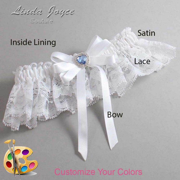 Couture Garters / Custom Wedding Garter / Customizable Wedding Garters / Personalized Wedding Garters / Winnie #10-B12-M25 / Wedding Garters / Bridal Garter / Prom Garter / Linda Joyce Couture